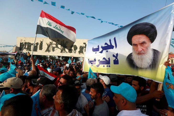 Sistani'nin erken seçim çağrısı sonrası yürüyüş