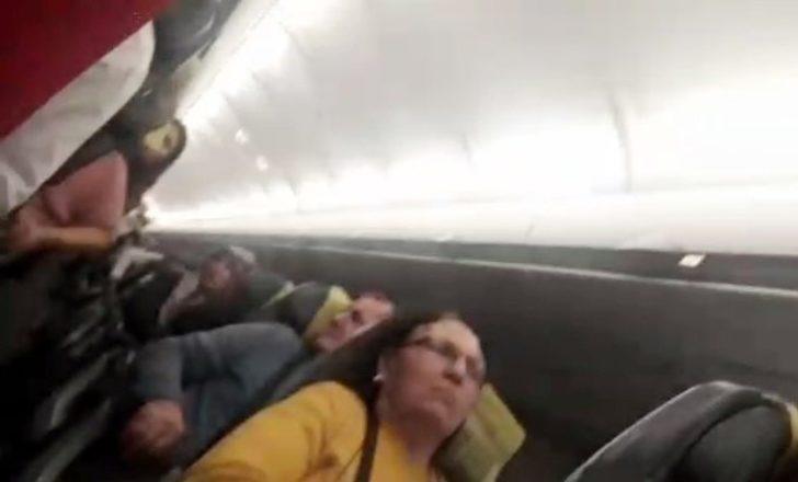 Fırtına nedeniyle uçak pisti 'pas' geçti