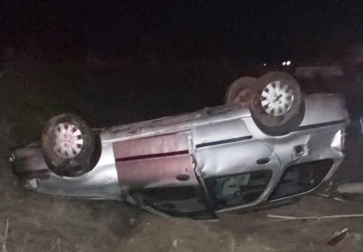 Köpeğe çarpmamak için manevra yapan otomobil devrildi: 2 yaralı