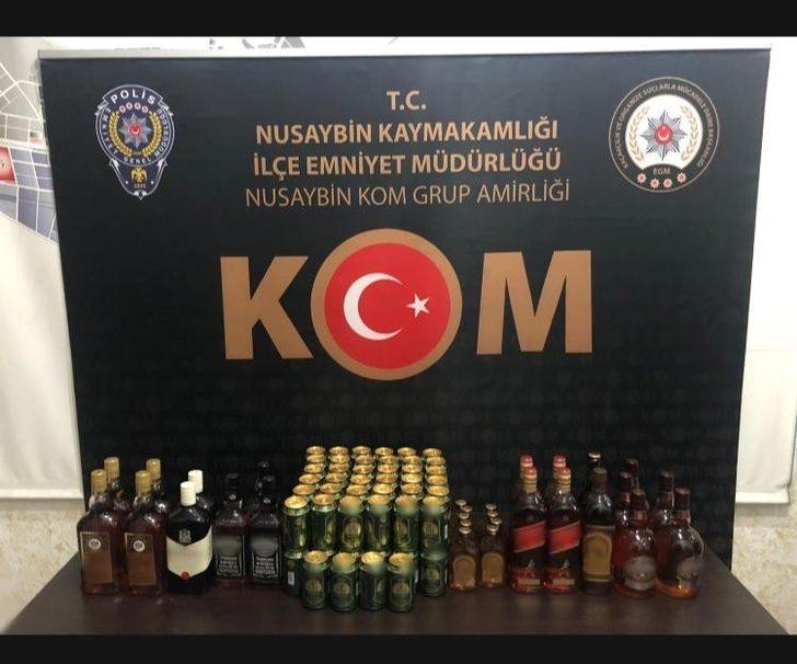 Mardin'de 91 litre kaçak içki ele geçirildi