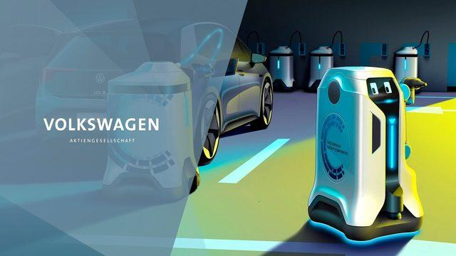 Volkswagen şarj robotu geliştirdi