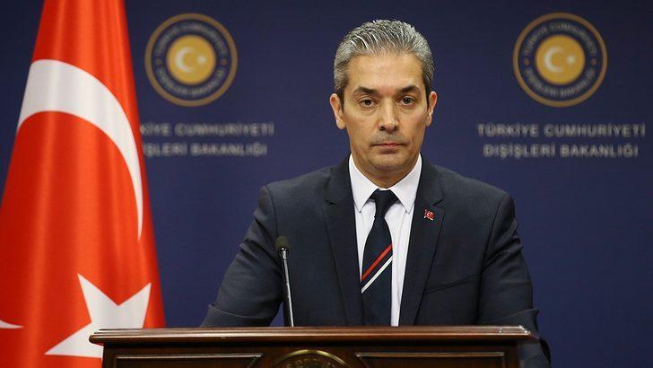 Sözcü Aksoy'dan, AB Dışişleri Bakanlarına 'Doğu Akdeniz' tepkisi