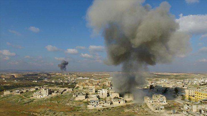 Esed rejiminin İdlib'i bombalamaya devam ediyor