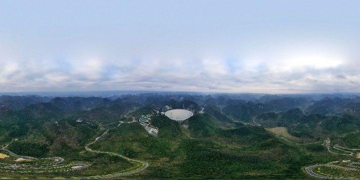 Çin'de yapımı 2016 yılında tamamlanarak test çalışmalarını sürdüren 500 metrelik Diyafram Küresel Radyo Teleskobunun (FAST) resmen faaliyete başladığı duyuruldu. ile ilgili görsel sonucu