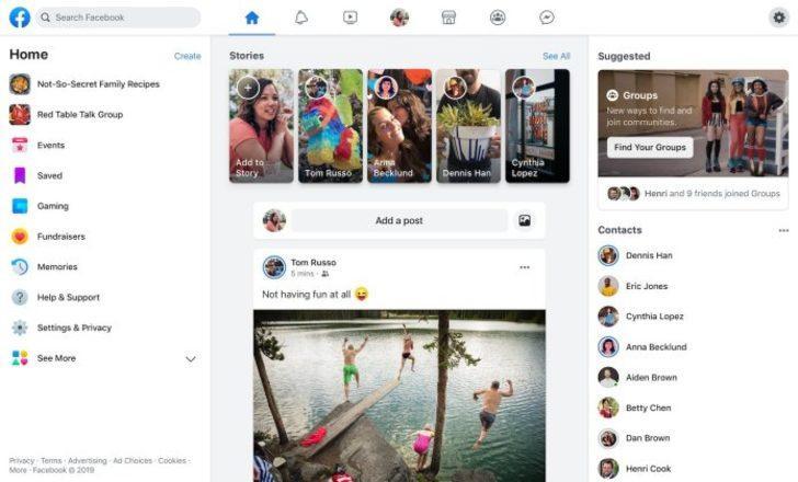 Yeni Facebook tasarımı daha temiz görünüm vadediyor