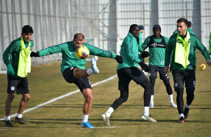 Konyaspor'da Ankaragücü maçı hazırlıkları sürüyor