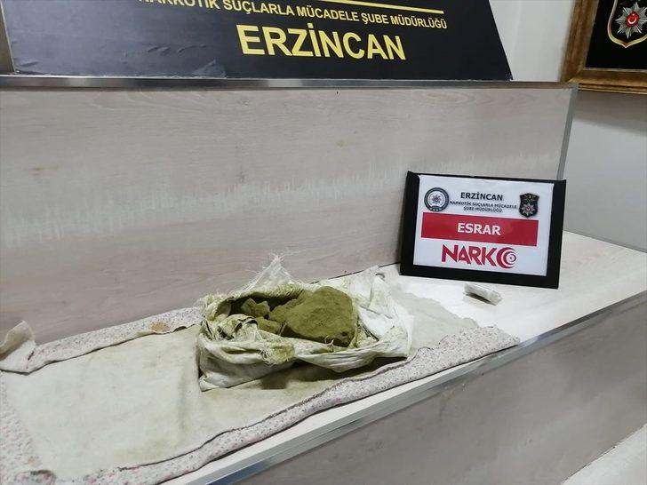 Erzincan'da uyuşturucu ticareti yaptığı iddia edilen zanlı tutuklandı