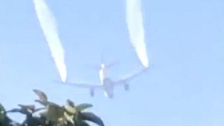 Uçak yakıtını ilkokulun üstüne boşalttı: 17'si çocuk, 26 kişi yaralandı
