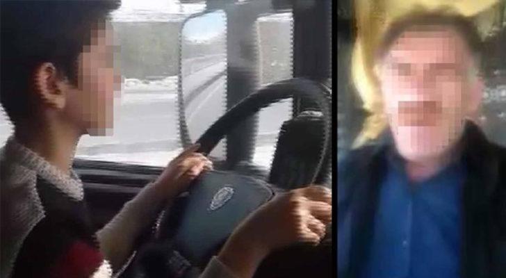 10 yaşındaki oğluna TIR kullandıran baba gözaltına alındı! 'Fani dünyanın isyankar şoförüyüm'