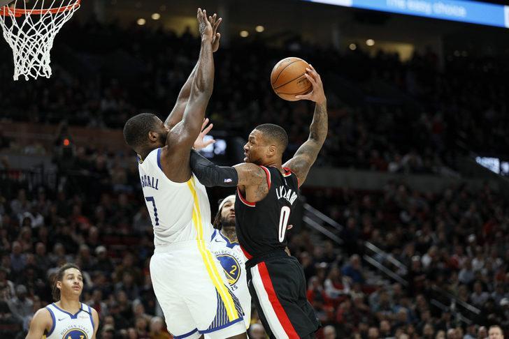 Portland Trail Blazers 129 - 124 Golden State Warriors (Damian Lillard 61 sayıyla kariyer rekoru kırdı)