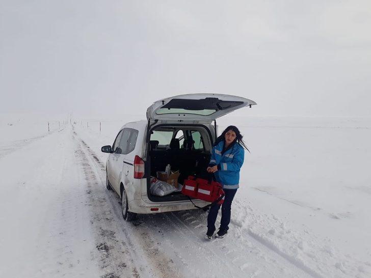 Zorlu kış şartları Evde Sağlık Hizmetleri Ekibini engelleyemiyor