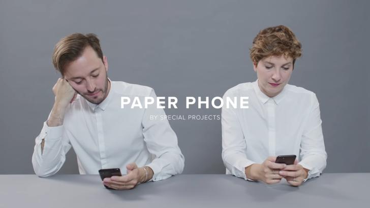 Google'dan dijital detoks yapmanın yeni yolu: Paper Phone