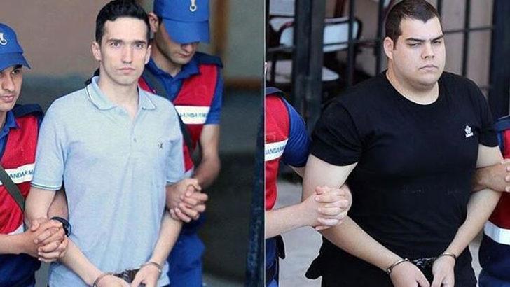 Edirne'de askeri yasak bölgede yakalanmışlardı! Yunan askerlerinin yargılanmasına devam edildi