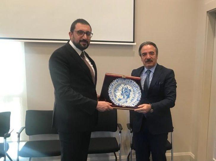 Rektör Bağlı'dan Cumhurbaşkanı Başdanışmanı Akış'a ziyaret