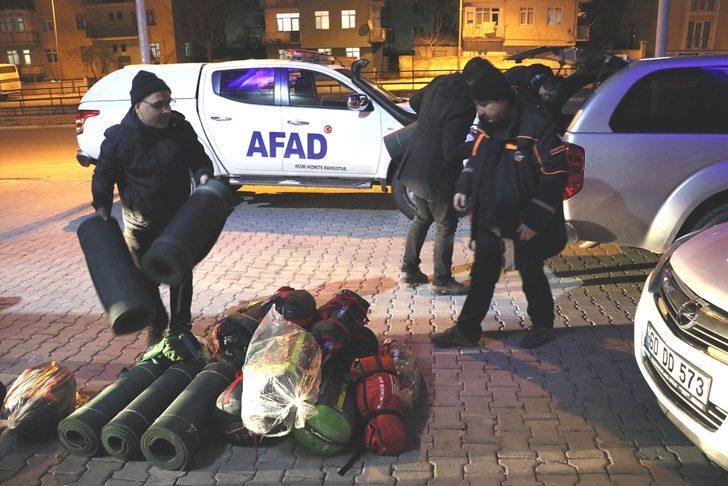 Tokat AFAD ekipleri, Elazığ'daki çalışmalara destek vermek için yola çıktı