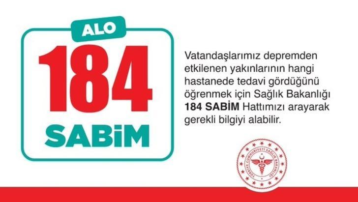Sağlık Bakanı Koca'dan çok önemli açıklama! Deprem sonrası yakınlarından bilgi almak isteyenler 184'ü arasın