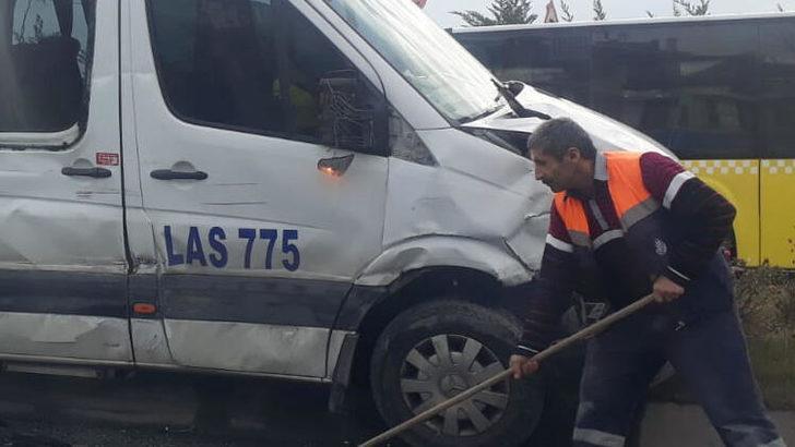 Son dakika: Habipler Arnavutköy yolunda zincirleme kaza! Yaralılar var