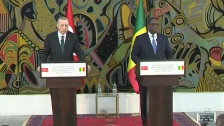 Cumhurbaşkanı Erdoğan'dan Senegal'de önemli açıklamalar!