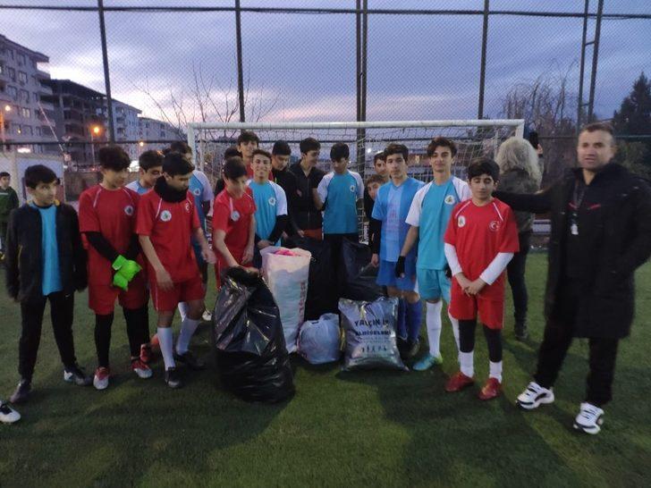 Amatör spor kulübünden depremzedelere anlamlı yardım