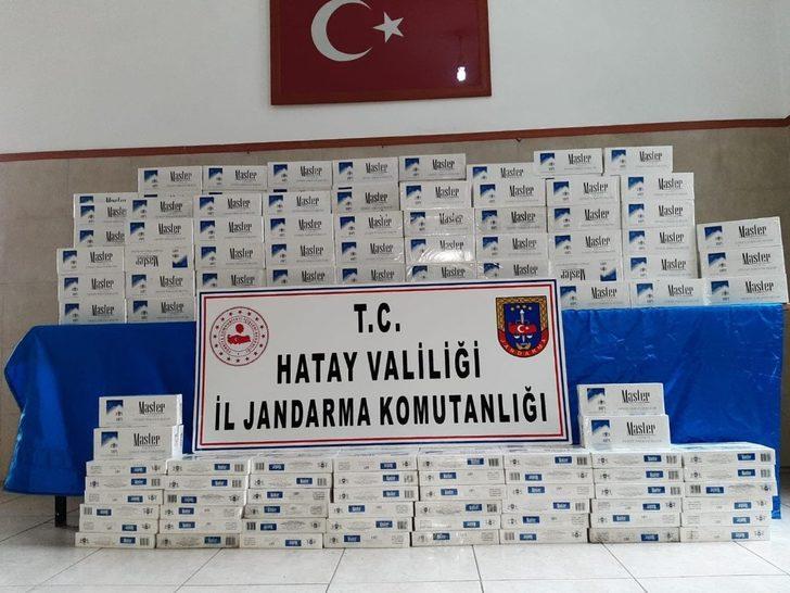 Hatay sınırında 5 bin 250 paket gümrük kaçağı sigara ele geçirildi