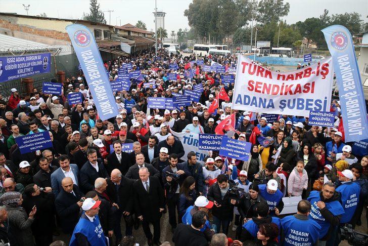 İncirlik Hava Üssü'ndeki işten çıkarma kararı protesto edildi