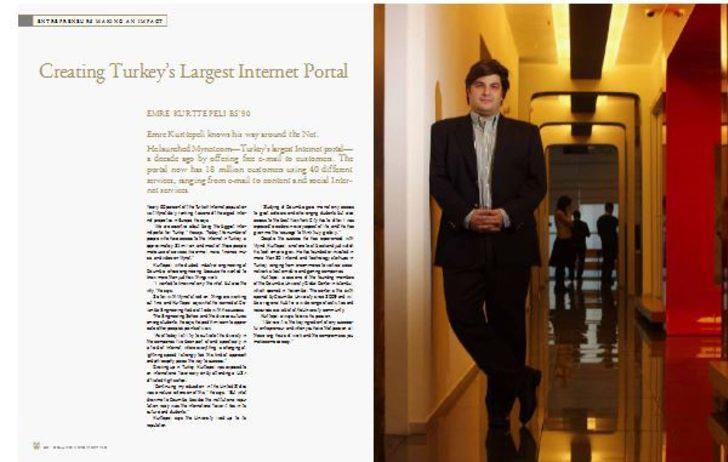 Columbia Magazine covers Kurttepeli: Creating Turkey's Largest Internet Portal