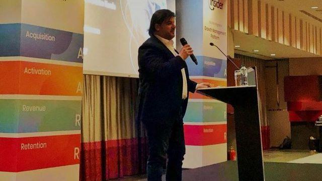 Emre Kurttepeli, Insider Launch Keynote Talk at Night.