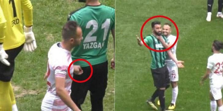 20 maç ceza alan Amedsporlu Mansur Çalar bu sefer tırnaklarıyla saldırdı