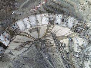 Türkiye'nin birinci, dünyanın ise üçüncü en yüksek barajı Yusufeli Barajı'nın dörtte üçü tamamlandı