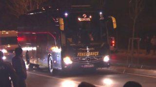 Fenerbahçe takım otobüsüne saldırı!