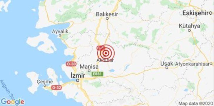 Son dakika: Manisa'da 5.0 büyüklüğünde deprem (AFAD-Kandilli Rasathanesi Son Depremler)
