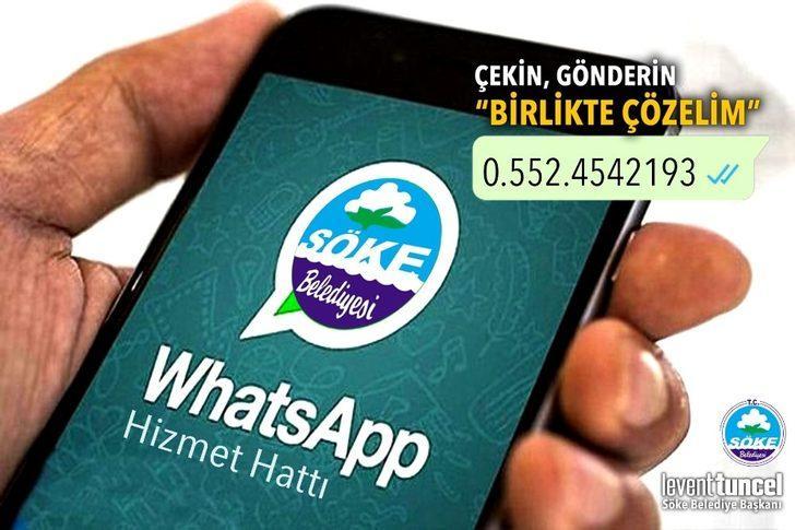 Söke Belediyesi'nden WhatsApp Hizmet Hattı