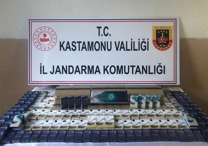 Tosya'da 385 paket kaçak sigara ele geçirildi