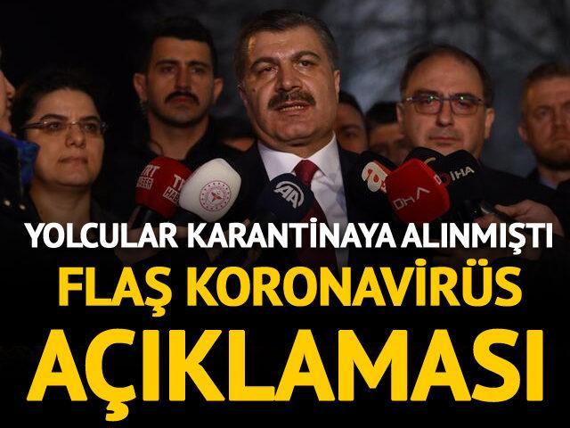 Yolcular Ankara'da karantinaya alınmıştı!  Açıklama geldi