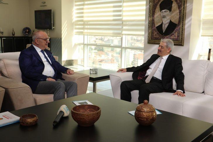 Başkan Ergün, Vakıflar Bölge Müdürü Ataseven'i ağırladı