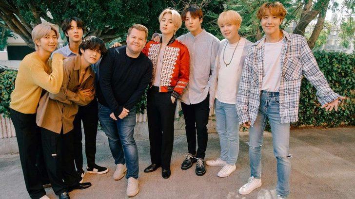 """BTS, James Corden'ın meşhur """"Carpool Karaoke""""sine konuk oldu"""