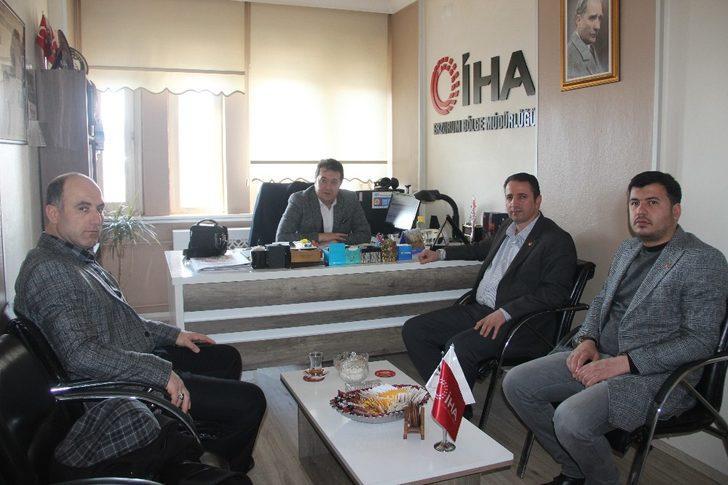 Yeniden Refah Partisi Erzurum İl Başkan'ından İHA'ya ziyaret