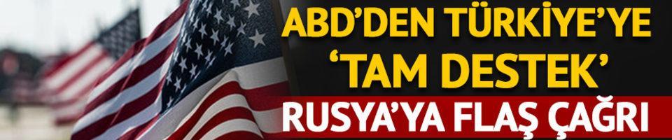 ABD: Türkiye'ye desteğimiz tam