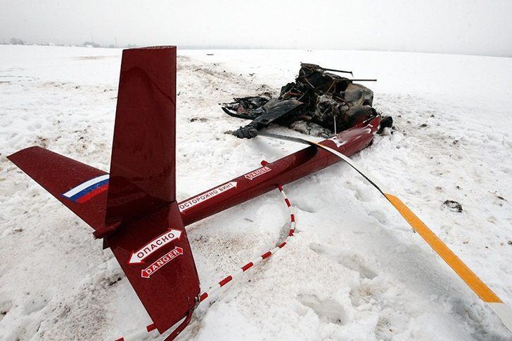 Rusya'da helikopter düştü