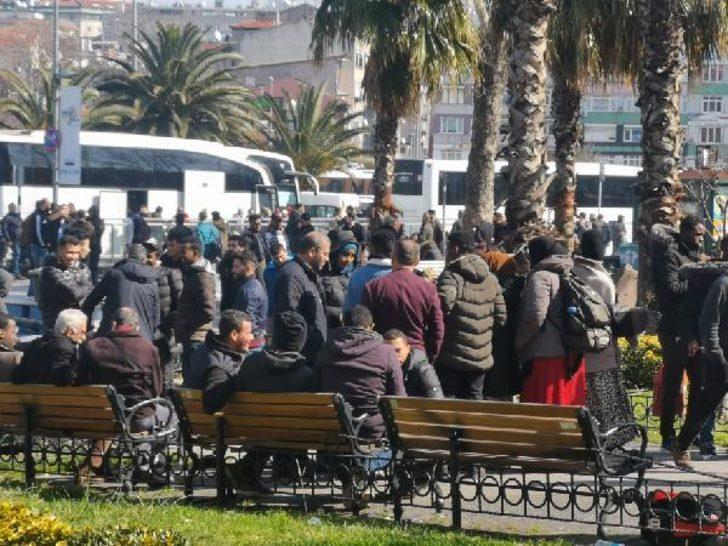 İstanbul'da göçmen hareketliliği! Aksaray'dan Edirne'ye gidiyorlar