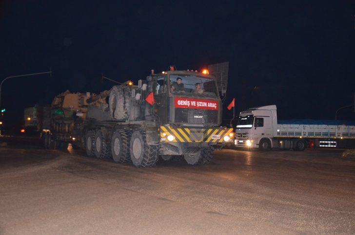 Sınır birliklerine tank ve obüs sevkiyatı
