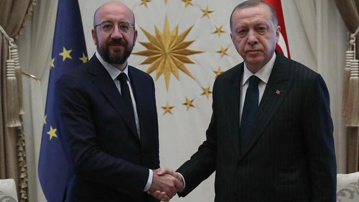 Cumhurbaşkanı Erdoğan, Avrupa Birliği Konseyi Başkanı'nı kabul etti