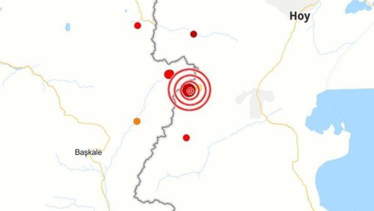 Son dakika haberleri... Türkiye-İran sınırında korkutan deprem