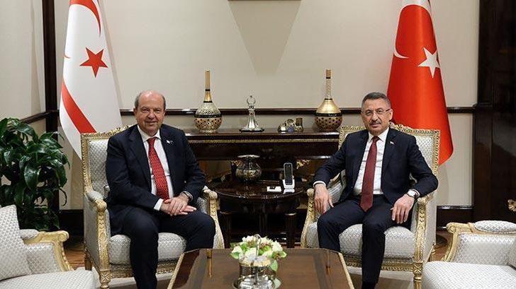 Cumhurbaşkanı Yardımcısı Fuat Oktay, KKTC Başbakanı Ersin Tatar'ı kabul etti