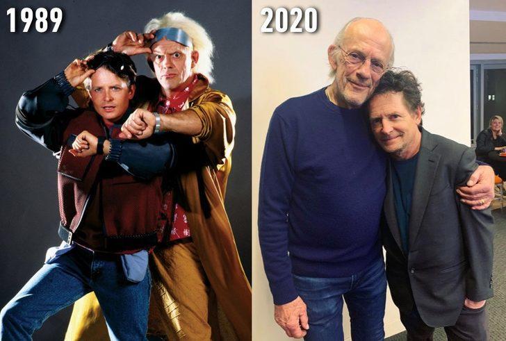 'Geleceğe Dönüş' filminin yıldızları bir araya geldi
