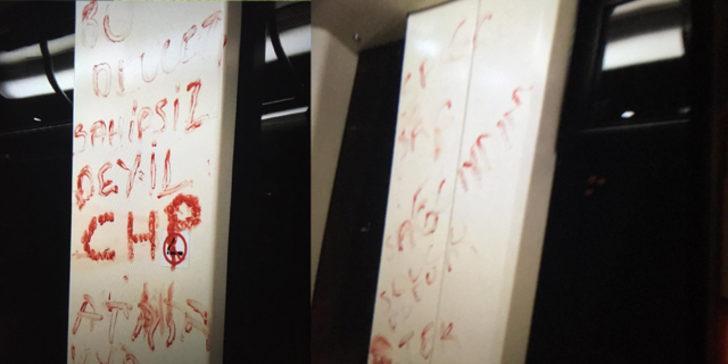 Eskişehir'de tramvayda dehşet! Vücudunu keserek kanıyla yazdı
