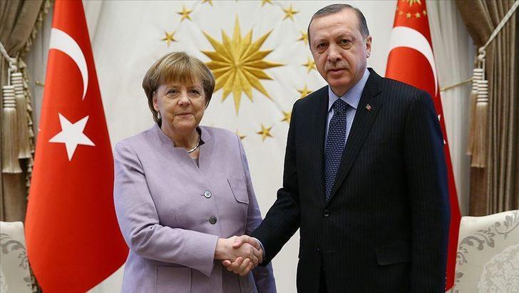 Son dakika: Cumhurbaşkanı Recep Tayyip Erdoğan, Merkel ile görüştü