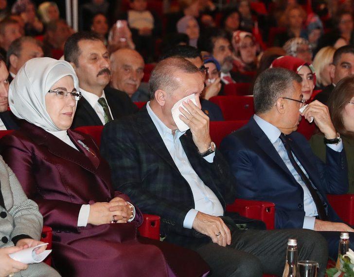Cumhurbaşkanı Erdoğan'ın zor anları! Gözyaşlarını tutamadı