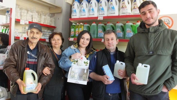 Burhaniye'de Korona Virüs kolonya satışlarını arttırdı