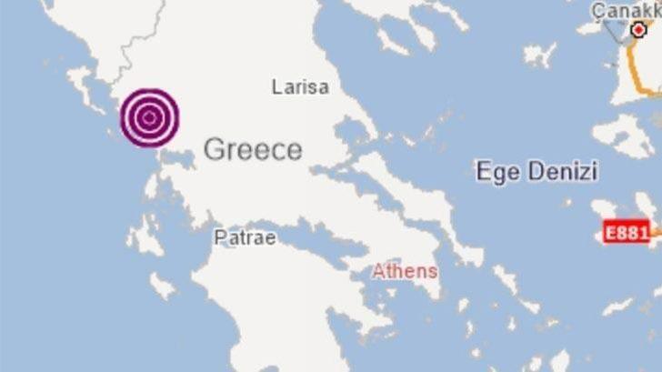 Son dakika! Yunanistan'da 5.7 büyüklüğünde deprem